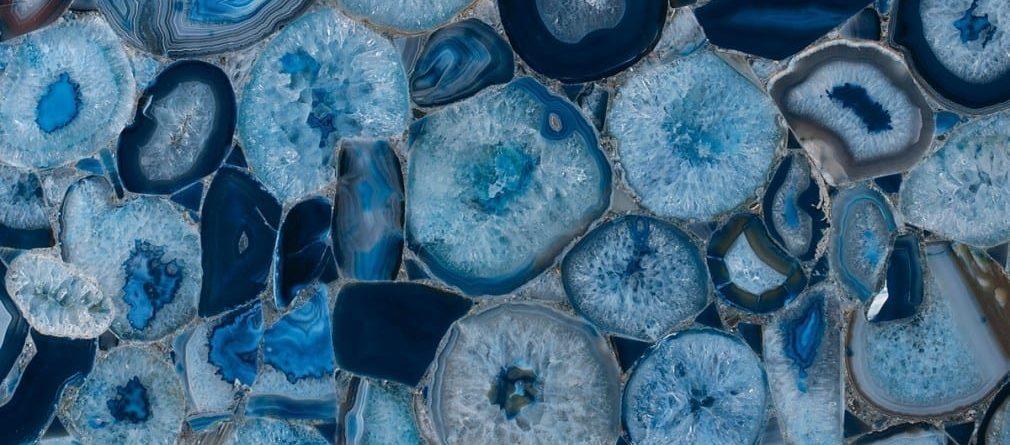 grama blend semi-precious stones blue agate