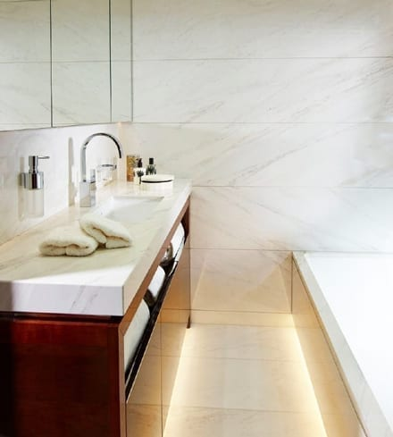 lightweight marble bathroom 40m super yacht