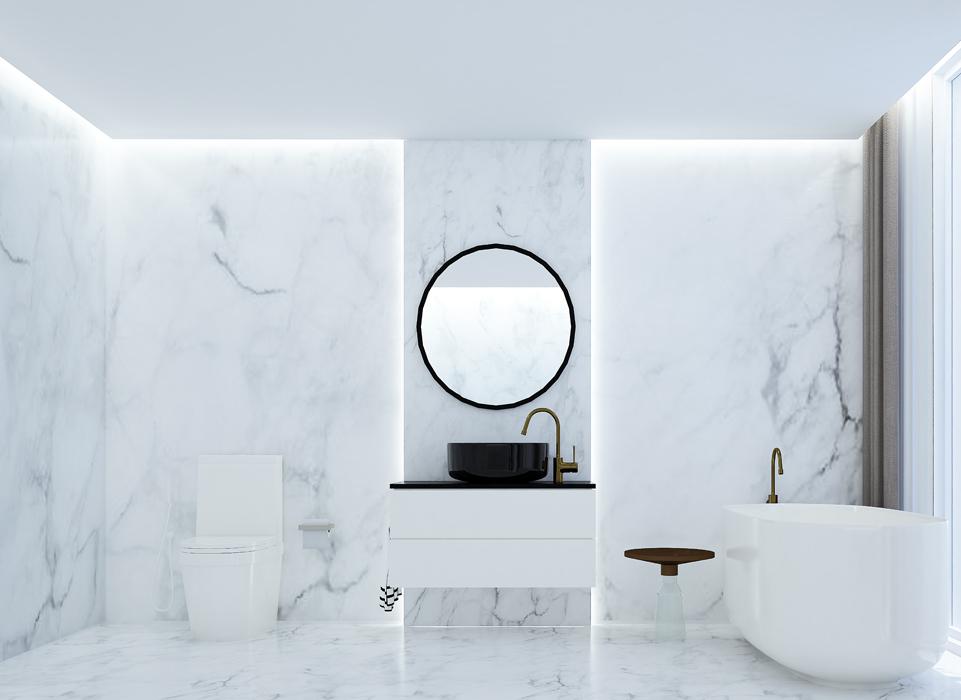 Lightweight Marble bathroom