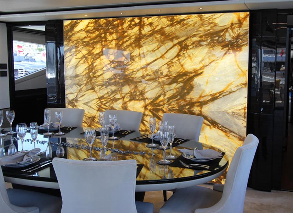 backlit furniture at grama blend uk translucent marble