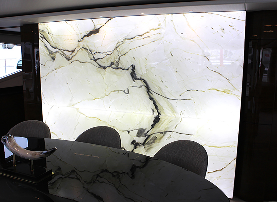 calacatta backlit marble stone from grama blend