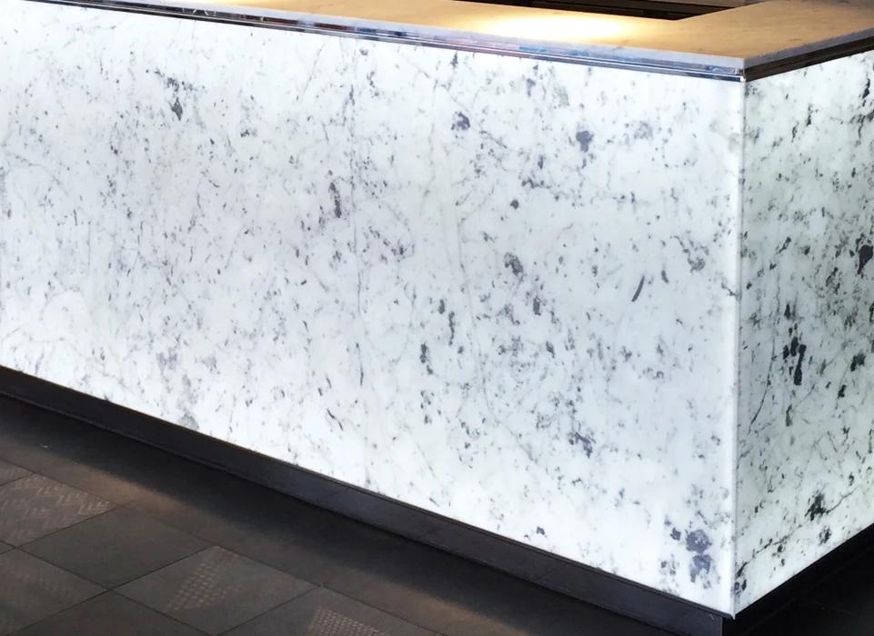 carrara backlit marble stone from grama blend uk