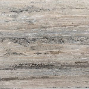 silver beige travertine close up shot of stone from grama blend uk
