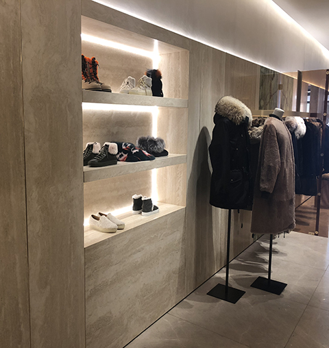 Mocca creme lightweight retail install