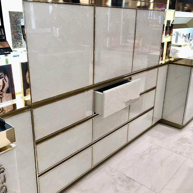 White Onyx doors and drawers